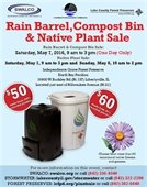 Rain Barrel, Compost Bin & Native Plant Sale flyer
