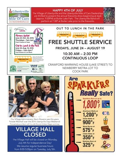 2016 Libertyville 4th of July updates