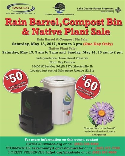 Rain Barrel,  Compost Bin & Native Plant Sale
