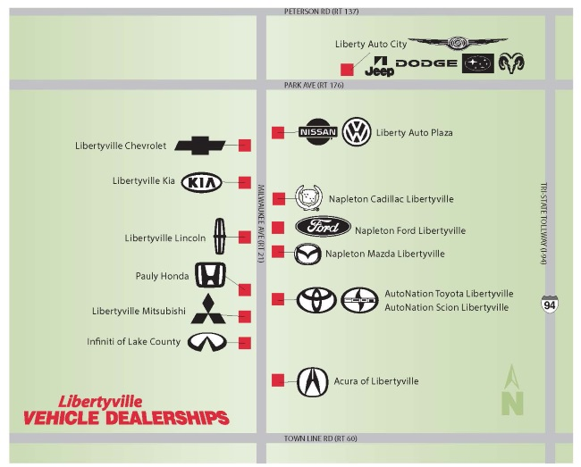 Library Car Dealer Map