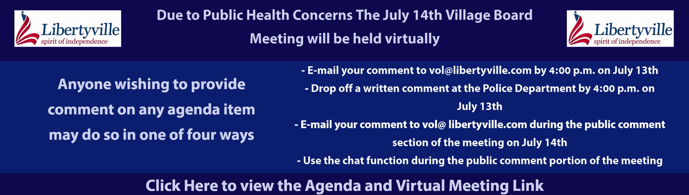 Click to view the July 14th Village Board Meeting