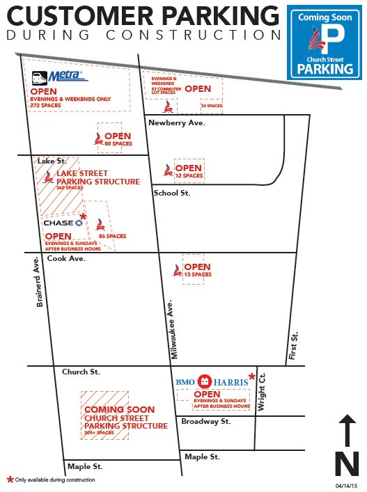 Customer Parking Map