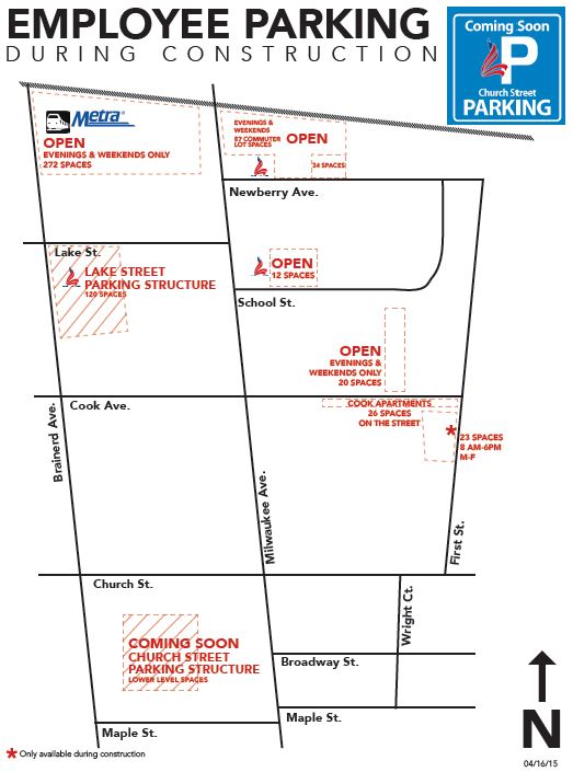 Employee Parking Map